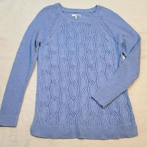 NWOT Sonoma sweater cable knit blue sz Large